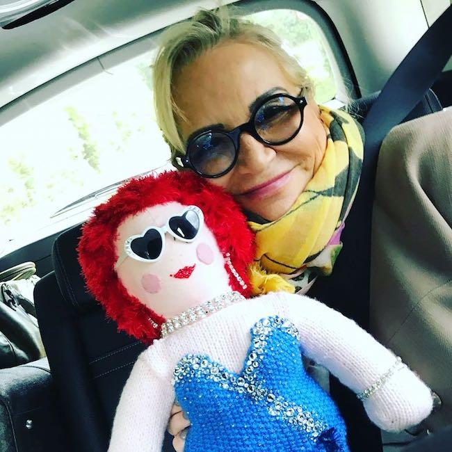 Sally Morgan car selfie in April 2018
