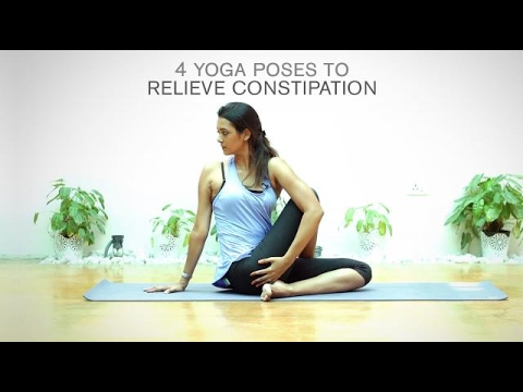 video  yoga 4 yoga poses to relieve constipation
